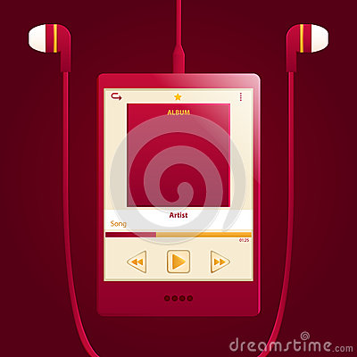 Red digital music player