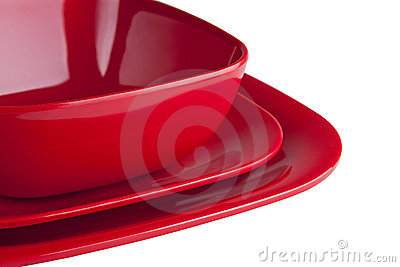 Red Dinner Plates