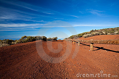 Red dirt mountain road