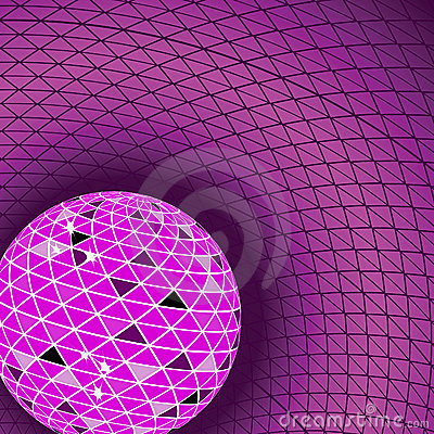 Red disco ball. Vector illustration