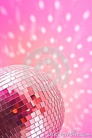 Red disco globe