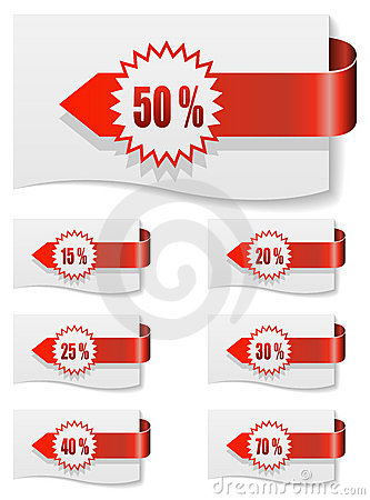 Red Discount Labels Stock Photos - Image: 17767763