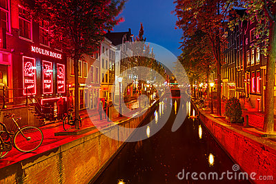 Red district in Amsterdam Editorial Stock Photo