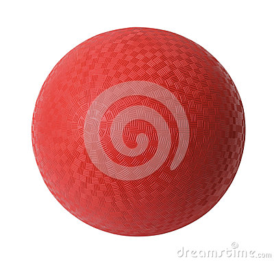 Free Red Dodge Ball Royalty Free Stock Image - 31455326