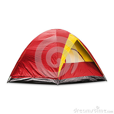 Free Red Dome Tent Royalty Free Stock Images - 77397049