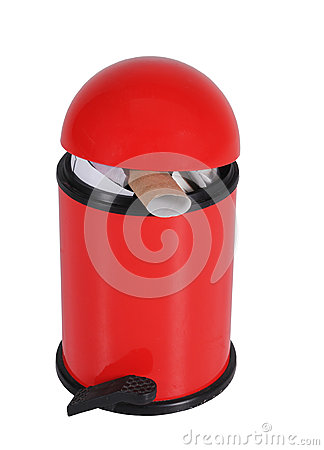 Red Domed Bin