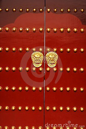 Free Red Door Royalty Free Stock Image - 1462126