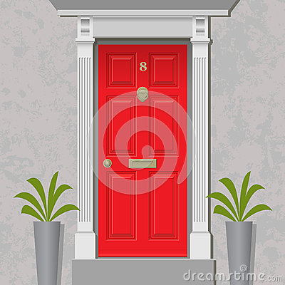 Free Red Door Royalty Free Stock Image - 33214446