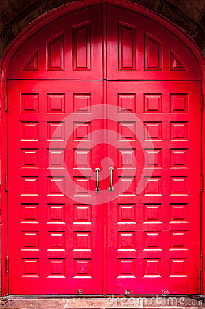 Free Red Door Stock Photography - 65182912