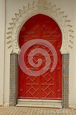 Free Red Door In Tangier Stock Photos - 26546743