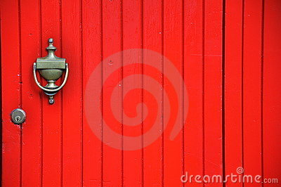 Red door in Italy