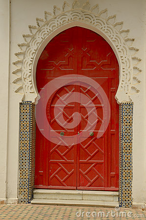 Red door in Tangier