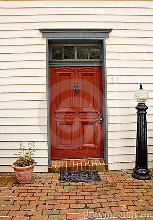 Red Door to a House