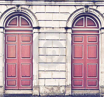 Free Red Doors Royalty Free Stock Image - 54737196