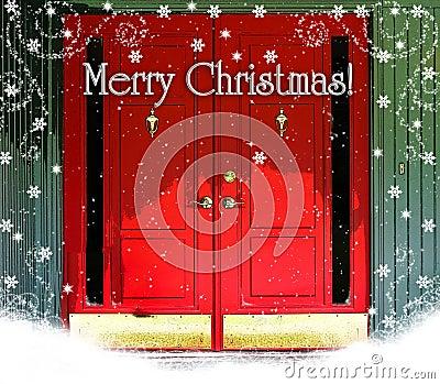Red Doors Merry Christmas