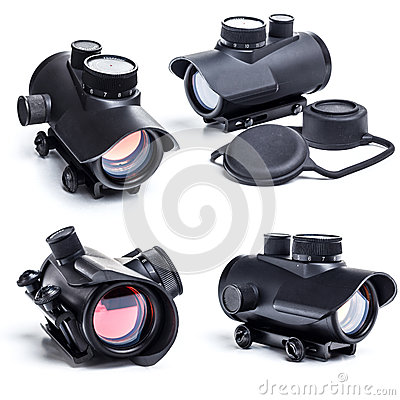 Free Red Dot Scope Royalty Free Stock Photo - 30343185