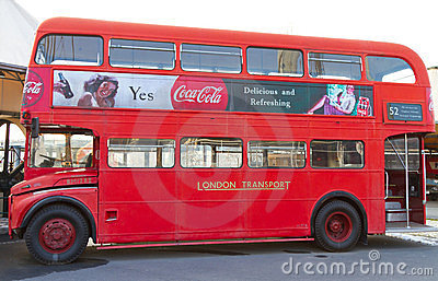 Red Double Decker Editorial Stock Photo