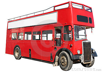 Red double-decker bus.