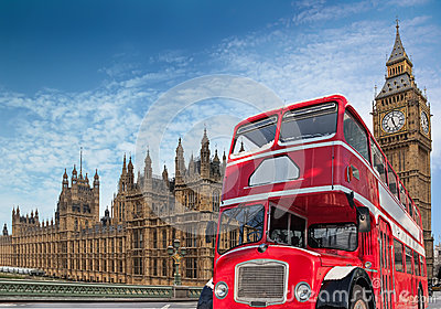 Red double-decker for Parliament