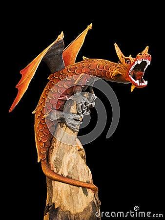 Free Red Dragon Stock Image - 6861601