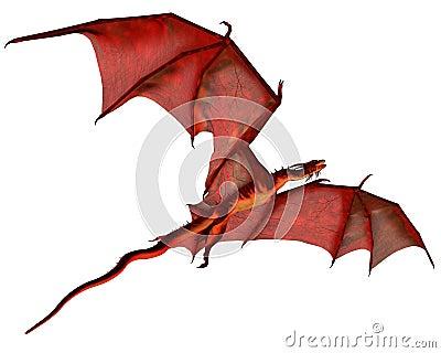 Red Dragon in Flight