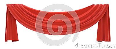 Red drapery.