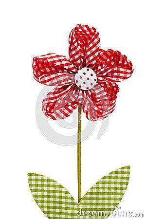 Red drapery flower
