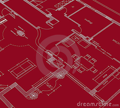 Red drawing cad
