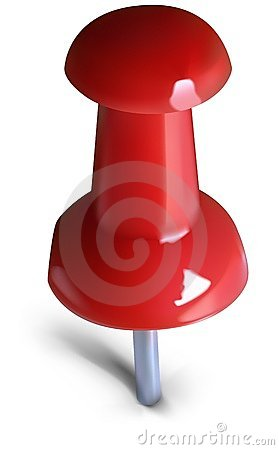 Red Drawing-pin