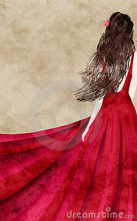 Free Red Dress Royalty Free Stock Photography - 1999547