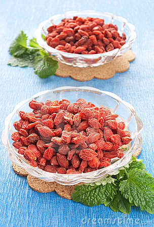Free Red Dried Goji Berries Royalty Free Stock Photography - 19019977