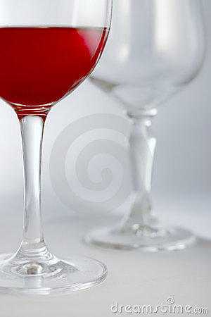 Red drink in glass