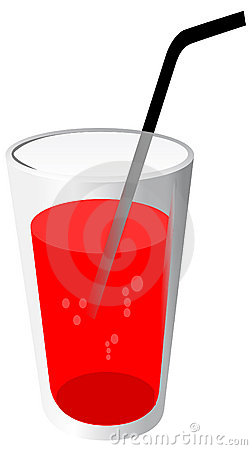 Free Red Drink With Pipe Stock Image - 7233871