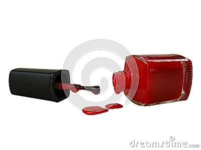 Red Dripping nailpolish