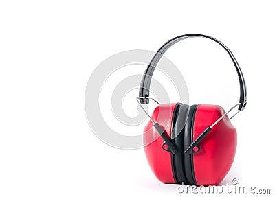 Red earmufs