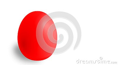 Red Easter egg with copyspace Stock Photo