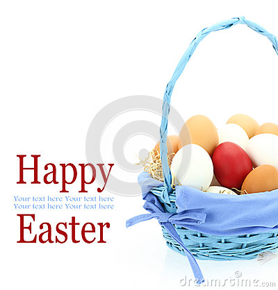 Free Red Easter Egg In The Basket Stock Photography - 26946222