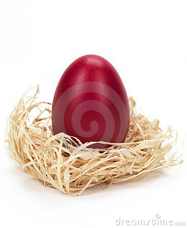 Free Red Egg In A Nest Stock Photos - 18963073