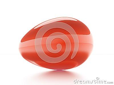 Red egg  on white