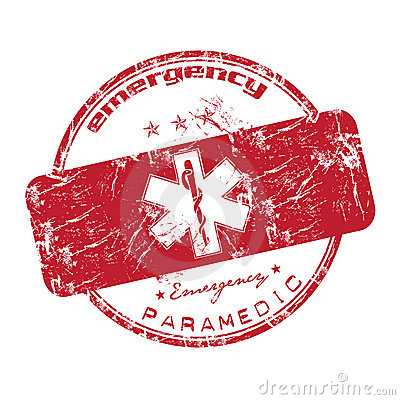 Red emergency stamp