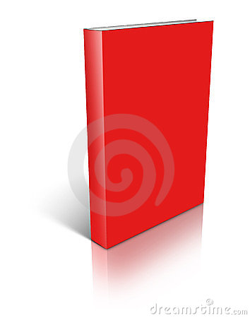 Red empty book template