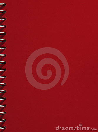 Red empty notebook cover