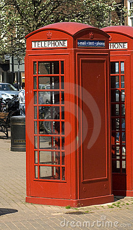 Red English Telephone boxes