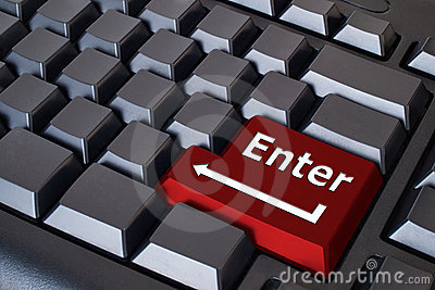 Red Enter button
