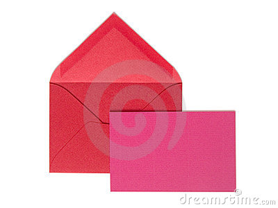 Red envelop with greeting card