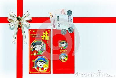 Red Envelope gift with Banknotes