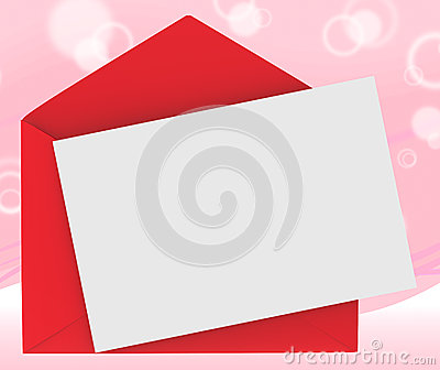 Red Envelope With Note Shows Loving Message