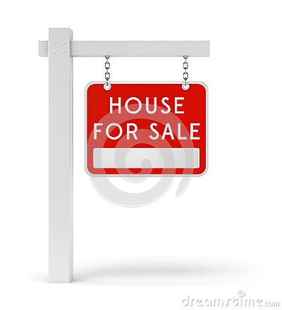 Red estate sign House For Sale