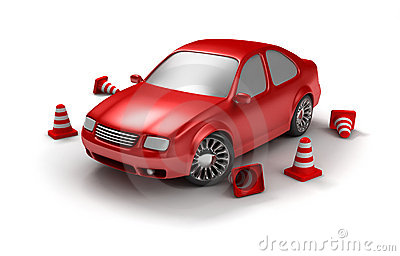 Red examination car