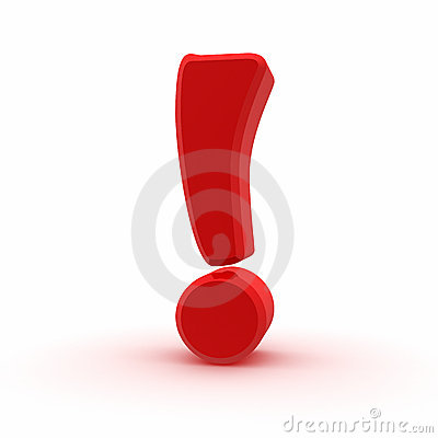 Red Exclamation Sign Royalty Free Stock Image - Image: 7066786 Восклицательный Знак Gif